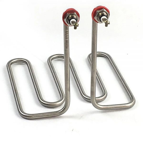 Tubular heater for deep oil fryer