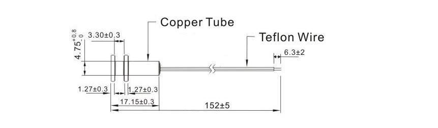 SW239 NTC Marine Temperature Sensor drawing